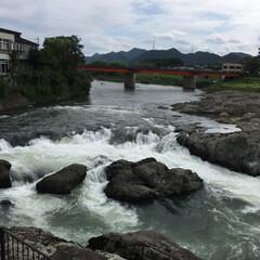 鮎解禁/加古川/闘龍灘/旅行/風景/令和元年フォト投稿キャンペーン 闘龍灘の流れ。