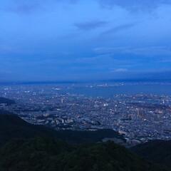夜景スポット/夜景/摩耶山/令和元年フォト投稿キャンペーン 摩耶山展望台で粘ってみた(笑) 薄暮から…
