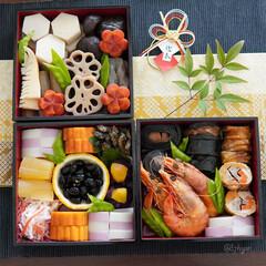 お正月/謹賀新年/2021/お正月の食卓/お正月料理/お節作り/... あけましておめでとうございます 本年もど…(1枚目)