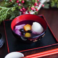 LIMIAごはんクラブ/季節行事/おうちカフェ/おうちごはん/おしるこ/ぜんざい/... 鏡開き  小豆バージョンと 紫芋しるこバ…
