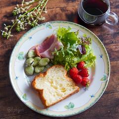 delimia/LIMIAごはんクラブ/おうちごはん/おうちモーニング/おうちカフェ/うつわ好き/... おはようございます 空豆の季節到来  さ…(1枚目)
