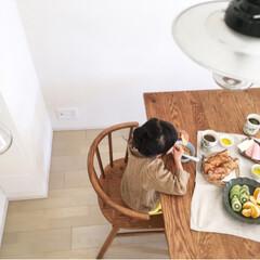 おうちごはん/朝食/ダイニングテーブル/食卓 breakfast with my fa…