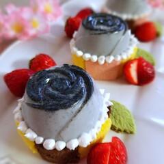 おうちカフェ #黒薔薇プリン #黒ごま薔薇プリン  薔…(3枚目)