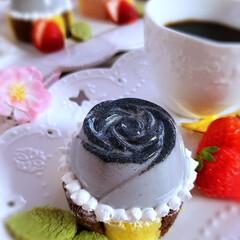 おうちカフェ #黒薔薇プリン #黒ごま薔薇プリン  薔…