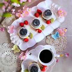 おうちカフェ #黒薔薇プリン #黒ごま薔薇プリン  薔…(2枚目)