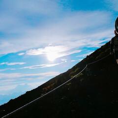 富士山登山/登山/富士山/LIMIAおでかけ部/おでかけワンショット 富士山🗻 初めて登った富士山はやはり感動…(2枚目)
