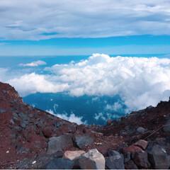 富士登山の思い出/富士登山/富士山山頂/富士山/登山/旅行/... 初の富士山🗻は、最高でした*・゜゚・*:…(2枚目)