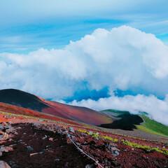 富士山登山/登山/富士山/LIMIAおでかけ部/おでかけワンショット 富士山🗻 初めて登った富士山はやはり感動…(3枚目)