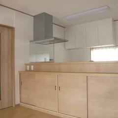 対面キッチン/対面キッチン収納/対面キッチン収納オーダー製作 対面キッチンのダイニング側は 収納です。…