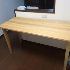 京都府産木材/京都府産木材のダイニングテーブル 京都府産木材で作ったダイニングテーブル。…