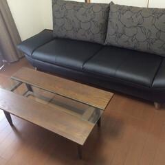 家具/リビング家具/ソファ/リビングテーブル/家具で部屋は変わる いい感じのソファとリビングテーブル。 家…