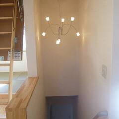 階段照明/施主支給照明/おしゃれな照明 おしゃれな階段の照明器具は お客様支給。