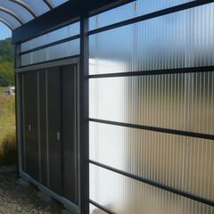 テラスと物置のコラボ/雨の日に便利な物置 テラスと物置のコラボ。 雨の日はとっても…