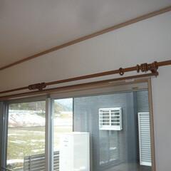装飾カーテンレール/木製カーテンレール 最近はカーテンレールは シンプルが多いで…