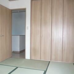 2階寝室は畳/洋収納建具の和室 2階寝室は畳。 和室という感じではなく収…