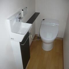 タンクレストイレ/サティス/カウンター付手洗い/コフレル タンクレストイレ。 カウンター付手洗い。