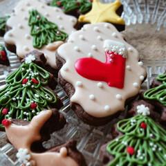 トナカイ/サンタ/アイシングクッキー/クリスマス2019/リミアの冬暮らし/ハンドメイド 赤の長靴はサンタの長靴 赤い鼻はトナカイ…