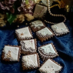 ハンカチ/アイシングクッキー/手作りクッキー/ハンドメイド/暮らし 子どもが産まれてからは 鞄にいつもタオル…