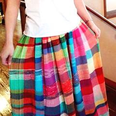 スカート/さをり織り さをり織りスカート♡
