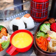 お弁当作り/お弁当/お昼ごはん/ランチ/cooking/料理/... #献立 . 𓍯梅おにぎり 𓍯鶏つくね(の…