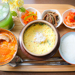 cooking/料理/多国籍料理/お昼ご飯/ランチ/韓国料理/... 大好きな韓国料理🇰🇷! . *ケランチム…