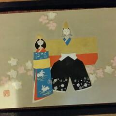 日本画/お雛様 日本画で、お雛様を描きました🙆