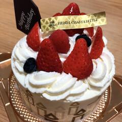 ありがとう/誕生日ケーキ/お誕生日ケーキ/苺のケーキ/春のフォト投稿キャンペーン/ありがとう平成/... お誕生日ケーキ いただきました! ありが…