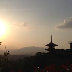 わたしのGW/夕焼け/清水寺/お寺/夕日/景色/... 京都の様々な地域を周り撮影をしました、清…