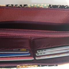 ハンドメイド 長財布です❤️ 猫柄の生地が届いたので早…(3枚目)