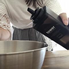 詰め替え用調味料ボトル | TOWER(醤油さし、卓上調味料入れ)を使ったクチコミ「【TOWER】  山崎実業の詰め替え用調…」