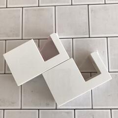 カモ井加工紙 マスキングテープ mt 1P マットホワイト | エムティー(マスキングテープ)を使ったクチコミ「セリアで購入したミニテープカッター。 角…」