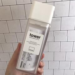 詰め替え用調味料ボトル | TOWER(醤油さし、卓上調味料入れ)を使ったクチコミ「山崎実業TOWERの詰め替えボトル。 ホ…」(1枚目)