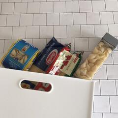 バリラ スパゲッティ No.3 700g 3個(その他麺類、パスタ)を使ったクチコミ「ニトリのNインボックスはサイズ展開が豊富…」