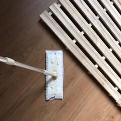 花王 クイックルワイパー 立体吸着ウェット 16枚 | 花王(モップ、雑巾)を使ったクチコミ「寝室の大掃除をしました。 すのこベッドも…」(1枚目)