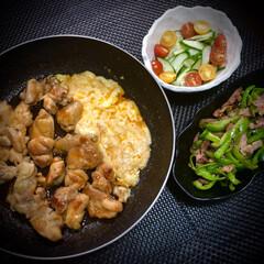ピーマン/チーズタッカルビ/晩ご飯/おうちごはん/簡単 いつかの晩ご飯 ✴︎チーズタッカルビ…