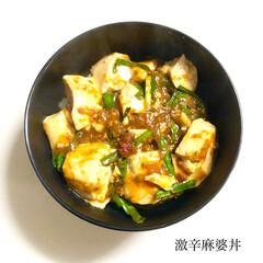 料理/晩ご飯/麻婆丼/激辛/おうちごはん 昨日の晩ご飯 は、 ✴︎激辛麻婆丼  …