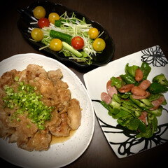 ピーマン/鶏肉料理/料理/晩ご飯/おうちご飯 今日の晩ご飯 は、 ✴︎鶏肉の大根おろ…