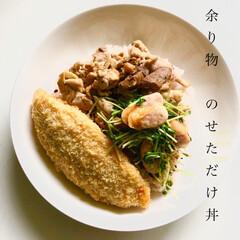 丼/料理/余り物ご飯/簡単/時短レシピ 余り物、のせただけです😂