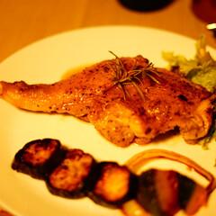 ディナー/誕生日/おうちごはん/フード/グルメ 旦那さんの手作りディナー! チキンソテー…