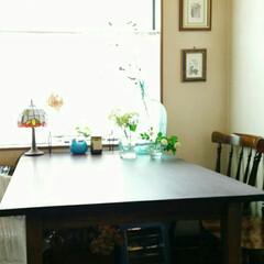 お気に入り/ダイニングテーブル 元は小さく色もナチュラルなダイニングテー…