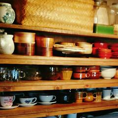 お気に入り/食器/オープン棚 お気に入りのオープン棚と 少しずつ集めた…