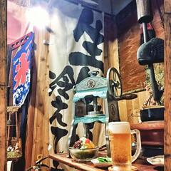 レトロ調/リビング/食品サンプル/居酒屋風/昭和レトロ/かき氷機/... ☀️夏と言えば!✨🍧✨ 我が家のリビング…