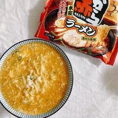 ちょい辛いラーメン/フォロー大歓迎/お昼ご飯/ノンフライ麺 こんにちは❣️ 昨日、スーパーへ行ったら…