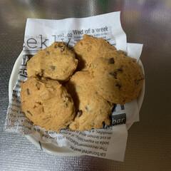 チョコチップクッキー/stay home/手作りクッキー/おうち時間/フォロー大歓迎/節約 今日は、手作りチョコチップクッキーを焼い…