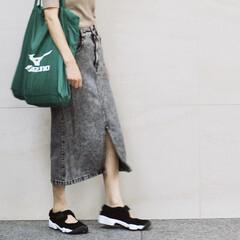 マイバッグ/エコバッグ/お買い物袋/大容量エコバッグ/私のお気に入り/ジーユー/... ミズノのスポーツバッグが 私のお買い物袋…