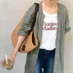 夏コーデ/デニム/デニムコーデ/プチプラファッション/プチプラコーデ/Tシャツコーデ/... おうちコーデの定番 Tシャツにデニム! …