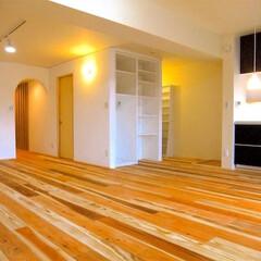 住まい/マンション/リフォーム/リノベーション/無垢/自然素材/... 中古マンションを購入し、入居前にリノベー…