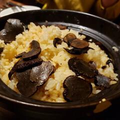 最高/晩飯🌃🍴/外食/家族一同/暮らし トリュフの釜飯✨ 初体験‼️