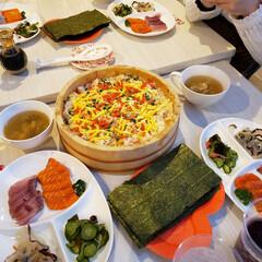 Dinner/こどもの日/手巻き寿司/暮らし stayホーム🎵 花見~😁