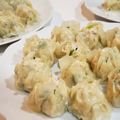 大好き/シュウマイ/手作り/晩飯/キッチン/フォロー大歓迎/... 本日シュウマイ❤️ 肉3割(笑)😁 長ネ…(2枚目)